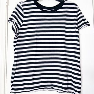 Striped casual short sleeve